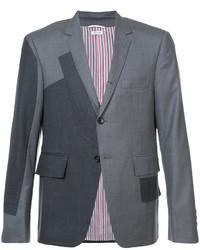 Мужской темно-серый шерстяной пиджак от Thom Browne