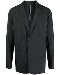 Мужской темно-серый шерстяной пиджак от Veilance