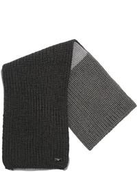 Темно-серый шерстяной шарф