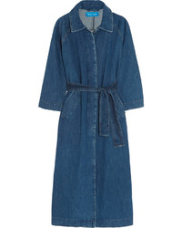 Темно-синее джинсовое пальто