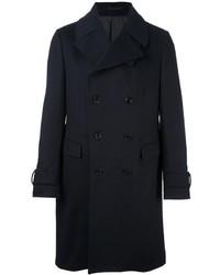 Темно-синее длинное пальто
