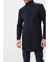 Темно-синее длинное пальто от Absolutex