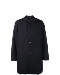 Темно-синее длинное пальто от Aspesi