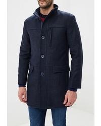 Темно-синее длинное пальто от Bazioni