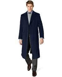 Мужское темно-синее длинное пальто от Brooks Brothers