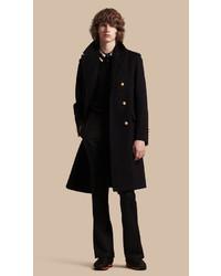 Мужское темно-синее длинное пальто от Burberry