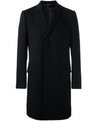 Мужское темно-синее длинное пальто от Dolce & Gabbana