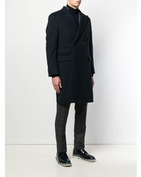 Темно-синее длинное пальто от Z Zegna