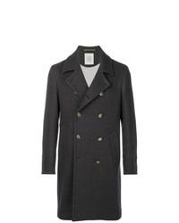 Темно-синее длинное пальто от Eleventy