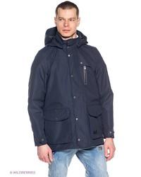 Мужское темно-синее длинное пальто от Jack Wolfskin