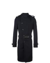 Мужское темно-синее длинное пальто от Kolor
