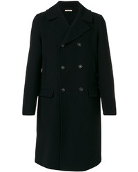 Мужское темно-синее длинное пальто от Massimo Alba