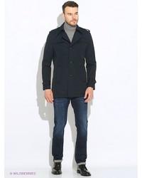 Мужское темно-синее длинное пальто от s.Oliver