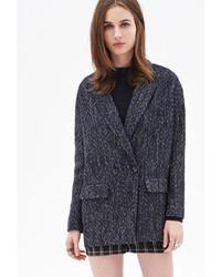 Женское темно-синее пальто букле от Forever 21