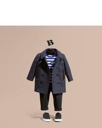 Детское темно-синее пальто для мальчиков от Burberry