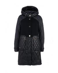 Женское темно-синее пальто от Grand Style