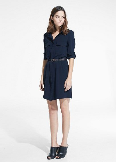 Синее платье какая рубашка у мужчины