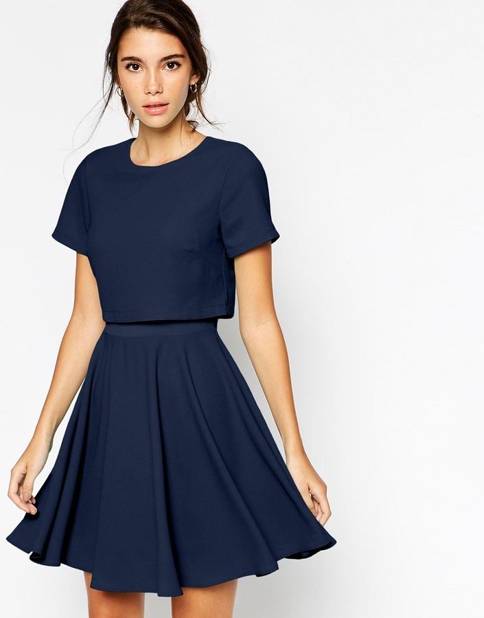 Платье темно синее женское