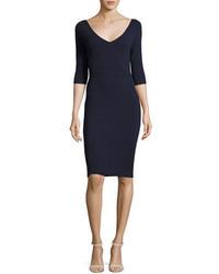 Женское темно-синее платье-футляр от Milly