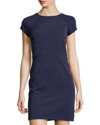Темно-синее повседневное платье