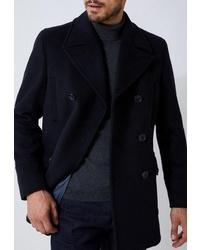 Темно-синее полупальто от Burton Menswear London