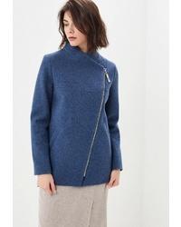 Женское темно-синее полупальто от Rosso Style