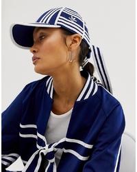Женская темно-сине-белая бейсболка с принтом от adidas Originals