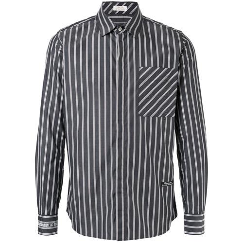 c6640aff5a1 ... Мужская темно-сине-белая рубашка с длинным рукавом в вертикальную  полоску от Education From ...