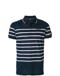 Мужская темно-сине-белая футболка-поло в горизонтальную полоску от Paul & Shark