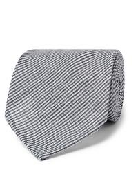 Мужской темно-сине-белый галстук в горизонтальную полоску от Rubinacci