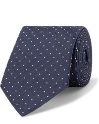 Мужской темно-сине-белый галстук в горошек от Paul Smith