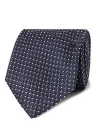 Мужской темно-сине-белый галстук в горошек от Tom Ford