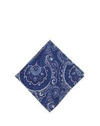 Темно-сине-белый нагрудный платок с принтом