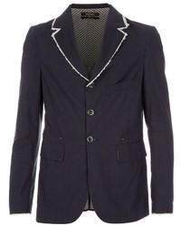Мужской темно-сине-белый пиджак в вертикальную полоску от Diesel Black Gold