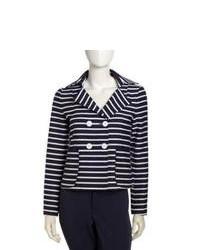 Темно-сине-белый пиджак