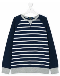 Детский темно-сине-белый свитер в горизонтальную полоску для мальчику от Ralph Lauren