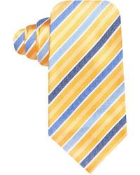 Темно-сине-желтый галстук в вертикальную полоску