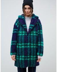 Темно-сине-зеленое пальто