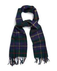 Темно-сине-зеленый шарф в шотландскую клетку