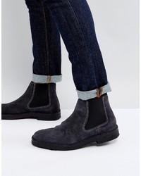 Темно-синие ботинки дезерты от Paul Smith