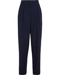 Женские темно-синие брюки-галифе от Fendi