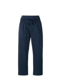 Темно-синие брюки карго