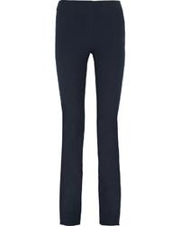 Темно-синие брюки-клеш