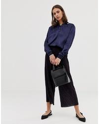 Темно-синие брюки-кюлоты с принтом от ASOS DESIGN