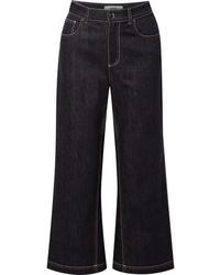 Темно-синие брюки-кюлоты от Fendi