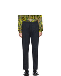 Темно-синие брюки чинос от Dries Van Noten