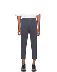 Темно-синие брюки чинос от Homme Plissé Issey Miyake