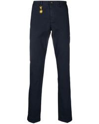 Темно-синие брюки чинос от Manuel Ritz
