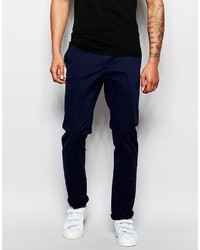 Темно-синие брюки чинос от Sisley