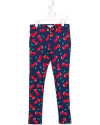 Детские темно-синие брюки для девочке от Little Marc Jacobs